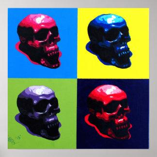Pop art Skulls Poster