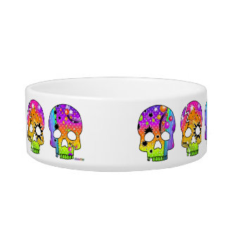 Pop Art SKULLS SNACK or PET BOWL