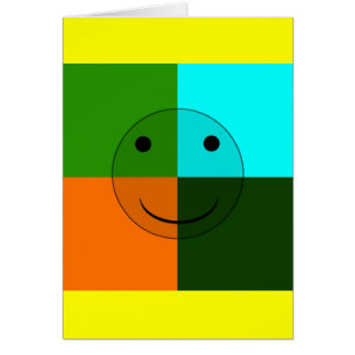 Pop art smiley cards
