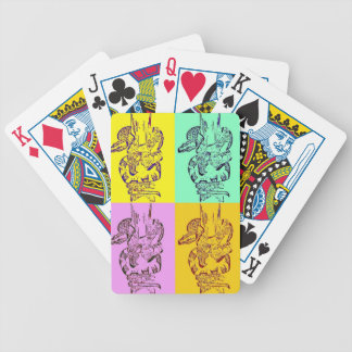 Pop Art Snakes Bicycle Playing Cards