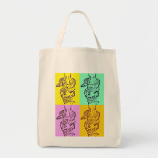 Pop Art Snakes Grocery Bag