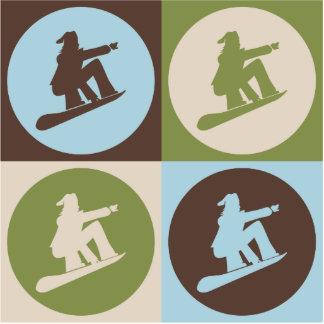 Pop Art Snowboarding Cut Out