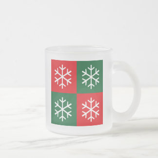 Pop Art Snowflakes 10 Oz Frosted Glass Coffee Mug