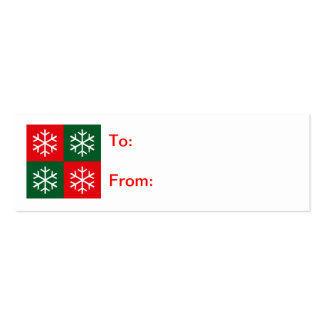 Pop Art Snowflakes Double-Sided Mini Business Cards (Pack Of 20)