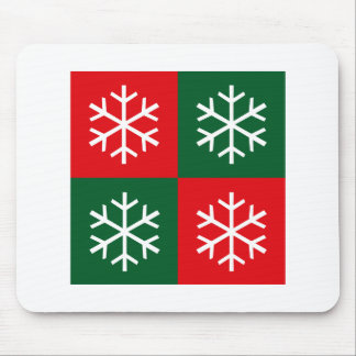 Pop Art Snowflakes Mouse Pad