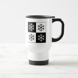 Pop Art Snowflakes 15 Oz Stainless Steel Travel Mug
