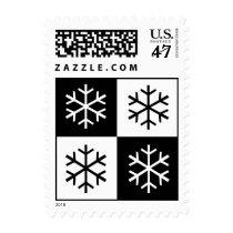 Pop Art Snowflakes Postage