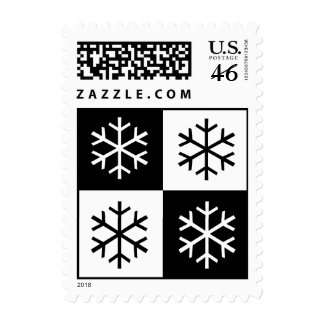 Pop Art Snowflakes Postage Stamps