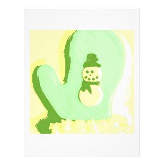 Pop Art Snowman Mitten Full Color Flyer