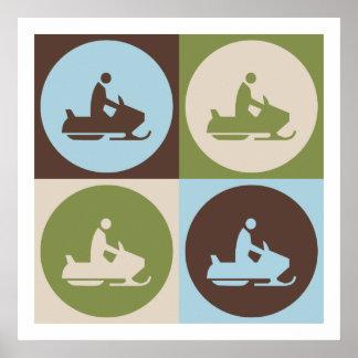Pop Art Snowmobiling Posters