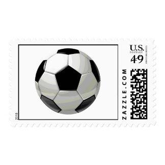 Pop Art Soccer Ball Postage Stamps
