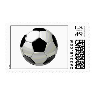 Pop Art Soccer Ball Postage Stamps