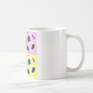 Pop Art Soccer Balls Classic White Coffee Mug
