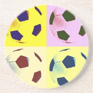 Pop Art Soccer Balls Coaster