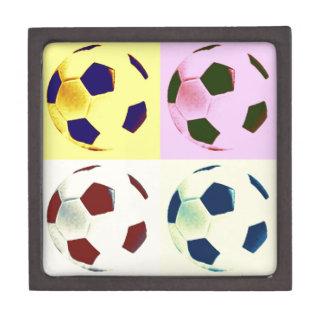 Pop Art Soccer Balls Jewelry Box