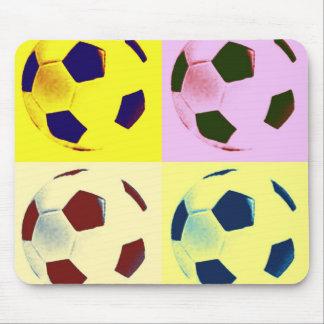 Pop Art Soccer Balls Mouse Pad
