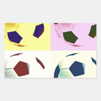 Pop Art Soccer Balls Rectangular Sticker