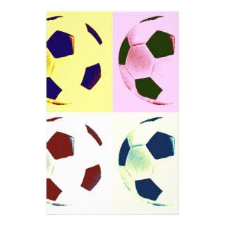 Pop Art Soccer Balls Stationery
