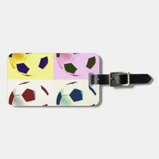 Pop Art Soccer Balls Tag For Bags