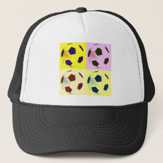 Pop Art Soccer Balls Trucker Hat