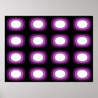 Pop Art Soft Violet Blobs Poster