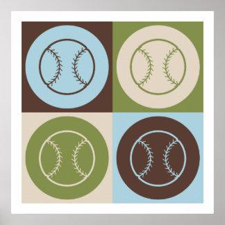 Pop Art Softball Poster