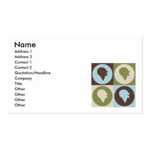 Pop Art Speech-Language Pathology Business Card Template