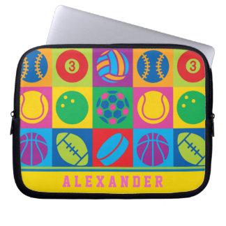Pop Art Sports Balls Laptop Sleeve