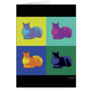 Pop Art Squirrel Card