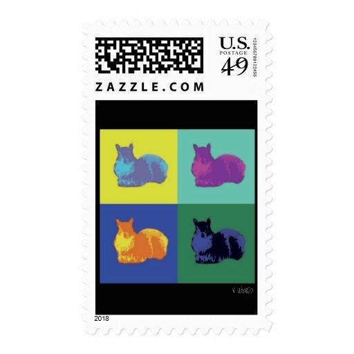 Pop Art Squirrel Postage Stamp