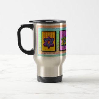 Pop Art Star of David Cups & Mugs