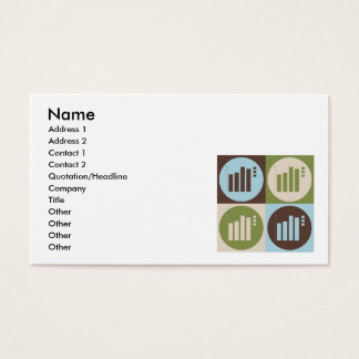 Pop Art Statistics Business Card