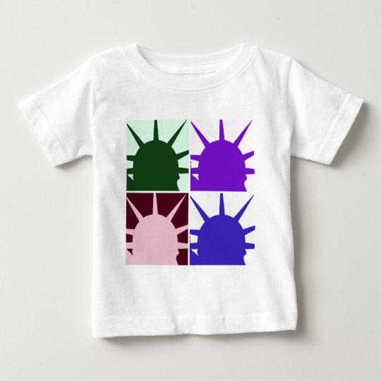 Pop Art Statue of Liberty Baby T-Shirt