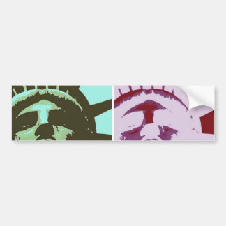 Pop Art Statue of Liberty Bumper Stickers