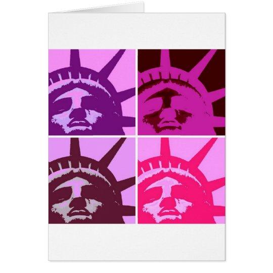 Pop Art Statue of Liberty Card