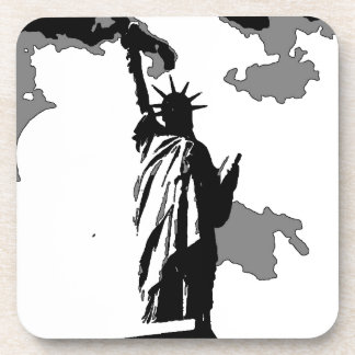 Pop Art Statue of Liberty Drink Coaster