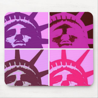 Pop Art Statue of Liberty Mouse Pad
