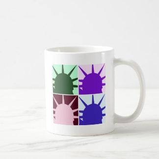 Pop Art Statue of Liberty Classic White Coffee Mug