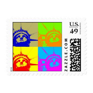 Pop Art Statue of Liberty Postage Stamp