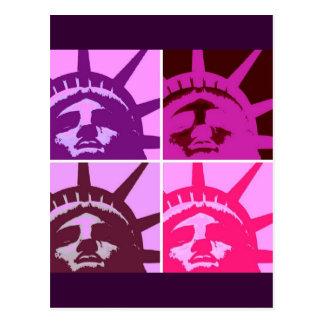 Pop Art Statue of Liberty Postcard