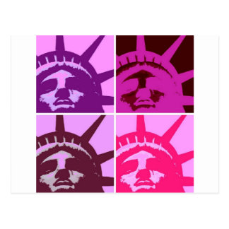 Pop Art Statue of Liberty Postcard