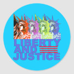 Pop Art Statue of Liberty Products Classic Round Sticker