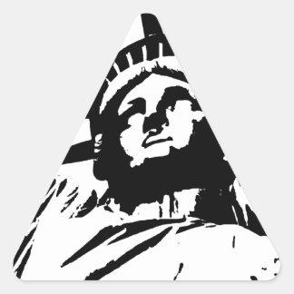 Pop Art Statue of Liberty Stickers