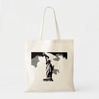 Pop Art Statue of Liberty Tote Bag