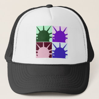 Pop Art Statue of Liberty Trucker Hat