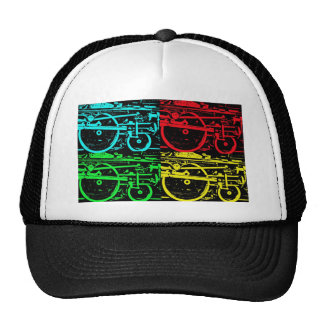 pop art steam trucker hat