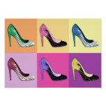 Pop Art Stiletto Pumps / Shoes / High Heels Poster