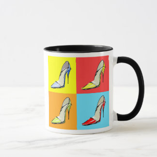 Pop Art Stilettos Coffee Mug, Fashion Theme Mug