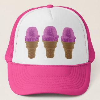 Pop Art Strawberry Ice Cream Cone Trucker Hat