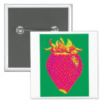 Pop art strawberry pin